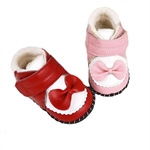 VENI MASEE® Baby Bowknot Keep Warm Breathable Leather Toddler First Walking Shoes