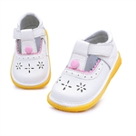 VENI MASEE® Baby Girl Breathable Leather Toddler First Walking Shoes
