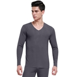 VENI MASEE® Men Modal Pumping Needle V-Neck Thermal Underwear Set, Long Sleeve Vest & Long Johns, 4 Colors, Price/Set, Gift Idea