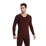 VENI MASEE® Men Cotton V-Neck Thermal Underwear Long Sleeve Vest Top, 4 Colors, Price/Piece, Gift Idea