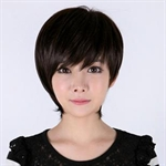Miss Beauty Super Natural Elegant White-collar Beauty Short Wig, Trendy Soft Face Framing Fringe, With Hair Cap, New Year Gift Idea, Price/Piece