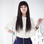 Miss Beauty Top Model Long Straight Wig, Trendy Soft Face Framing Fringe, With Hair Cap, New Year Gift Idea, Price/Piece