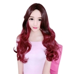 VENI MASEE® Simplicity Charming Stylish Lady's Long Wavy Red Wine Women's Wig
