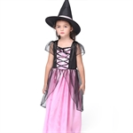VENI MASEE Girl Witch Cosplay Fancy Dress Halloween Costume Set,S-XL