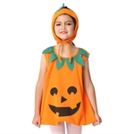 VENI MASEE Girl Pumpkin Cosplay Cute Fancy Dress Halloween Costume Set,S-XL