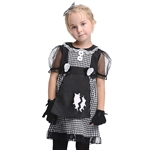 VENI MASEE Girl Skull Cosplay Fancy Dress Halloween Costume Set,S-XL