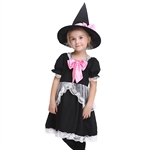 VENI MASEE Girl Maid Cosplay Fancy Cloak Dress Halloween Costume Set(Black)S-XL