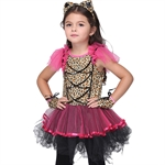 VENI MASEE Girl Leopard Animal Cosplay Fancy Dress Halloween Costume Set,S-XL
