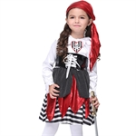 VENI MASEE Girl Pirate Cosplay Fancy Dress Halloween Costume Set(Black)S-XL