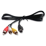 5 FT ( 1.5 m ) 4 Pin S-video to 3 RCA Male Cable