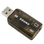 External USB 2.0 5.1 Channel 3D Sound Card Adapter for PC Notebook Laptop