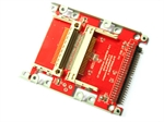 2.5 Inch HDD Mounting Holes 44-Pin Male IDE To Dual CF Card Adapter