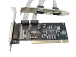 2-Port Serial 1-Port Parallel PCI Card