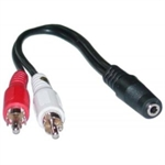 3.5mm Female to 2 RCA Male Adapter Cable