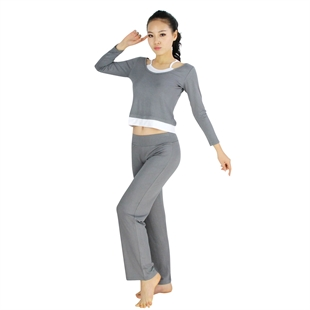 High Elastic Yoga Fitness Two-piece Set, Long-sleeved Top & Pants
