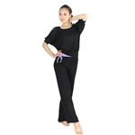 Fashion Bare-shouldered Design Fitness Yoga/Dancing Sets, Top & Pants