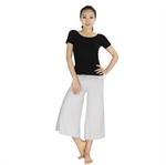 Womens Super Soft Fitness Yoga/Dancing Two-piece Set, Short-sleeved Top & Bell-bottom Pants