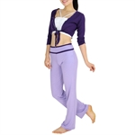 Top Quality Three-piece Fitness Yoga/Dancing Set, Vest/Bonds Top/Pants
