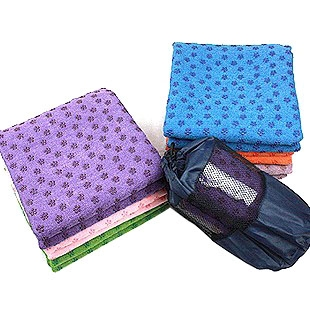 Plum Blossom 100% Microfiber Anti-slip Yoga Mat Towel with Carry Bag, Price/piece