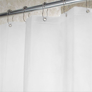 VENIMASEE PEVA Shower Curtain, Frosty  Clear, 178*183 CM
