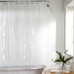 VENIMASEE PEVA Shower Curtain, Clear, 178*180 CM