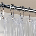 VENIMASEEPVC Waterproof Shower Curtain, Clear In 4 Different Sizes