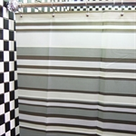 VENIMASEEPEVA Waterproof  Shower Curtain, Stripes Pattern, 180*180 CM