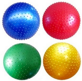 Yoga Ball, Fitness Ball For Pilates Exercise, Raised Dots Massage Ball, 65cm, From Hoter®