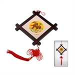 100% Handmade Silk Embroidery Chinese Knot Panda Artwork Pendant With Box-Foreign Business Gift/Ideal Christmas Gift